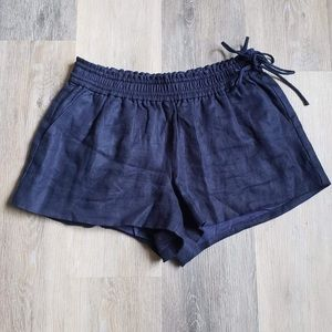 Dark Navy Blue Shorts with Side Ties